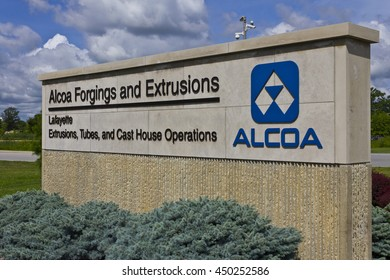 Lafayette, IN - Circa July 2016: Alcoa Incorporated Forging and Extrusion Plant. Alcoa is a global leader in lightweight metals technology IV