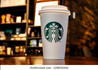 Lafayette - Circa October 2018: Starbucks Retail Coffee Store. Starbucks aims to Eliminate Plastic Straws Globally by 2020 IV