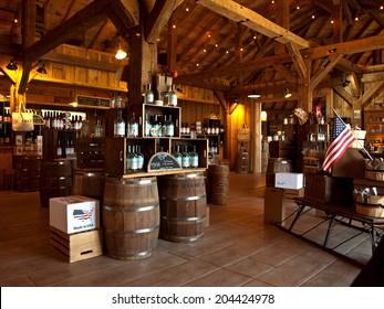 LaFayette, New York, USA- July 11,2014. Beak and Skiff Apple Farms 1911 Tasting Room