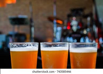 Lager beer or Craft beer in Restaurant