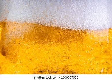 Lager beer glass close up texture - Shutterstock ID 1600287553