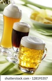 lager, dark and wheat beer glasses