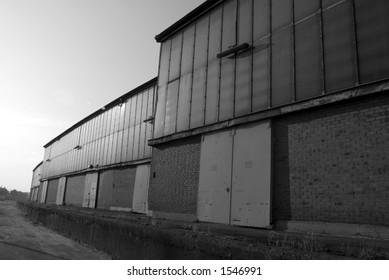 Lagerhaus im Hafen