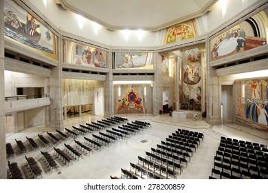 LAGIEWNIKI, KRAKOW, POLAND- APRIL 24, 2014: The centre of Pope John Paul II