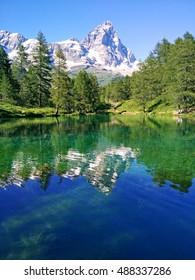 Lago Blu. Breuil-Cervinia