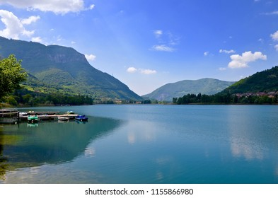 Lago d Iseo in Northern Italy in Lombardy