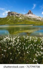 Lago dei Piani with Sasso si Sesto and Torre de Toblin.