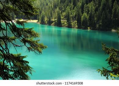 Lago di Braies - Pragser Wildsee, Mountain Lake in Northern Italy