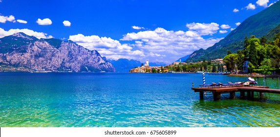 Lago di Garda - beautiful emerald lake in north of Italy
