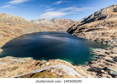 Lago di Lucendo - a reservoir at the St. Gotthard Pass
