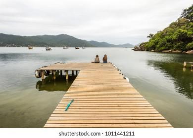 Lagoa da Conceicao lagoon in central Florianopolis, Santa Catarina Island, South Brazil