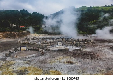 Lagoa das Furnas is one of the three main crater lakes on Sao Miguel. It has naturally boiling water of the caldeiras (hot springs). There are multiple geothermal springs in the area