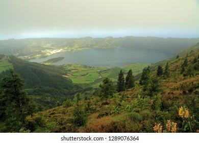 Lagoa das Furnas, Sao Miguel Island, Azores, Portugal