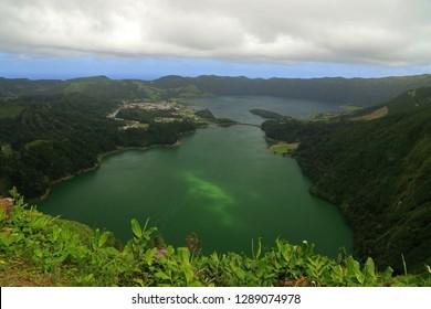 Lagoa das Sete Cidades, Sao Miguel Island, Azores, Portugal