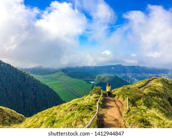 Lagoa das Sete Cidades is a twin lake situated in the crater of a dormant volcano on the Portuguese archipelago of the Azores. It consists of two small, ecologically different lakes connected by a nar