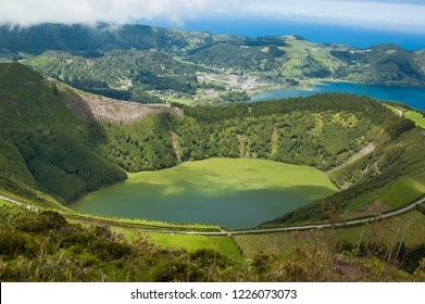 Lagoa de Santiago and Sete Cidades, Sao Miguel, Azores