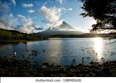 Lagoa do Capitão, Captain's Lagoon, in Pico Island, Azores