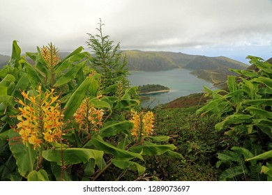 Lagoa do Fogo, crater lake, Sao Miguel Island, Azores, Portugal
