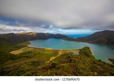 Lagoa do Fogo, fire lagoon, Sao Miguel, Azores