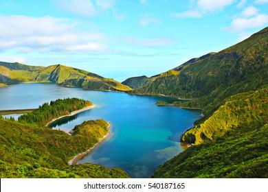 Lagoa do Fogo São Miguel Açores, Fire Lagoon São Miguel Azores