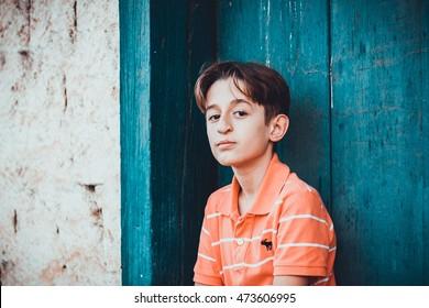 LAGOA SANTA, BRAZIL - AGO, 2016: Boy 11 Years Old