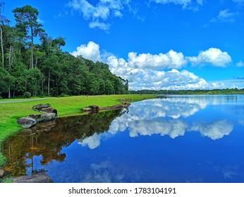 LAGOI, BINTAN, INDONESIA - JULY 18 2020 : Lake at Lagoi Bay, Bintan
