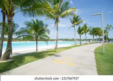 "Lagoi, Bintan Island, Indonesia, December 2018:""The Canopi Resort, Treasure Bay Bintan, South-East Asia' First Crystal Lagoons"""