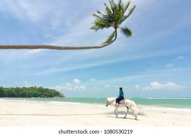 "Lagoi, Bintan Island, Indonesia, February 2017: ""Tropical Beach at Bintan Island"""