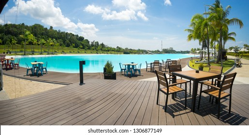 "Lagoi, Bintan Island, Indonesia, February 2019:""The Canopi Resort, Treasure Bay Bintan, South-East Asia' First Crystal Lagoons"""