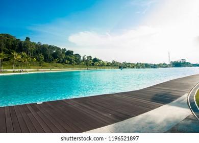 "Lagoi, Bintan Island, Indonesia, October 2018:""The Canopi Resort, Treasure Bay Bintan, South-East Asia' First Crystal Lagoons"""