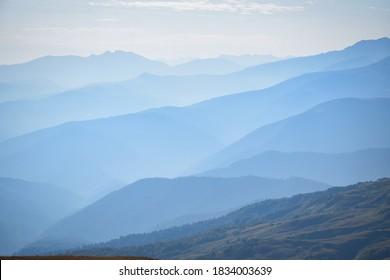 Lagonaki plateau in blue, Adygea