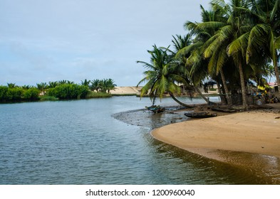 A lagoon in Ada Foah, Volta Region, Ghana.