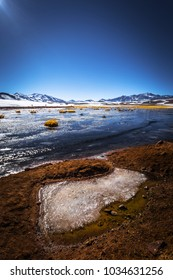 Lagoon in the Andean Altiplano, Chile
