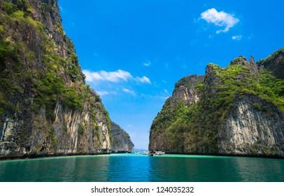 Lagoon Mountains Heaven Horizon