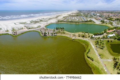 Lagoon next to the Oceanarium of Aracaju, Serjipe, Brazil