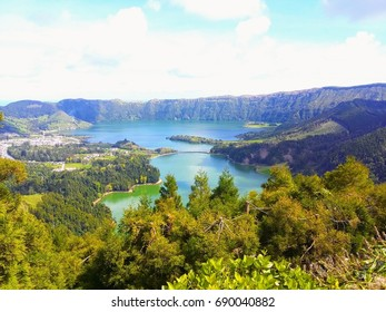 Lagoon of the Seven Cities in S. Miguel, Azores, Portugal