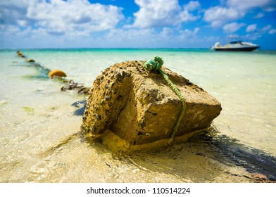 Lagoon view with stone