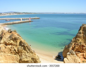 Lagos Bay Overview. Algarve Portugal