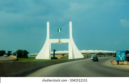 LAGOS, NIGERIA - MARCH 20, 2018: An entrance view to the state capital Abuja