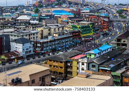 lagos nigeria urban august 17 2017 stock photo edit now 758403133