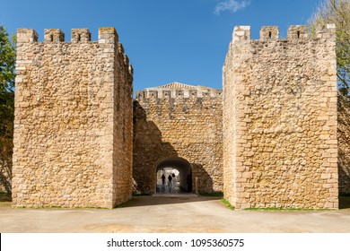 LAGOS, PORTUGAL - CIRCA MAY 2018: View of the entrance arch of the Governors Castle (Castelo dos Governadores), Lagos, Algarve, Portugal.