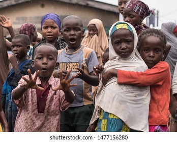 Lagos, Lagos State, Nigeria - September 2018: A visit to the lepers colony in Okobaba to a charity donation event