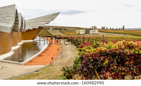 Laguardia Spain November 1 Bodegas Ysios Stock Photo Edit Now