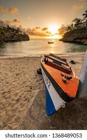 Lagun Sunset  Views arund the small caribbean Island of Curacao