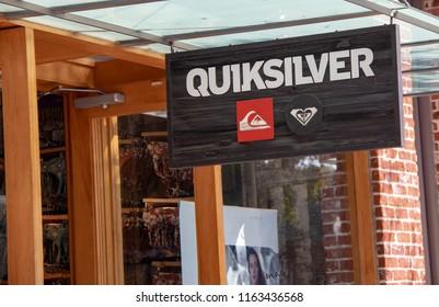 Laguna Beach, CA / USA - 08/23/2018: Quicksilver Store