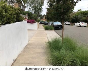 Laguna Beach, California/ United States - 2019-06-30 : Typical Modern Beach Bungalow Front Landscape