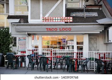 LAGUNA BEACH, CALIFORNIA / USA - JANUARY 24 2010: Local favorite Taco Loco on South Coast Highway near Legion Street in downtown Laguna Beach
