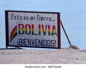 Laguna blanca bolivia andes south america