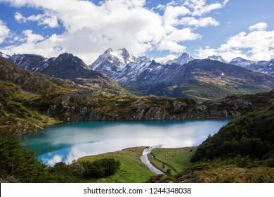 laguna del Caminante, a lagoon in Ushuaia, Tierra del Fuego island, Patagonia Argentina, South America