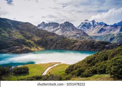 Laguna del Caminante at Tierra del Fuego National Park, Ushuaia - Argentina.